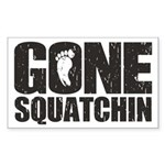 Gone Squatchin Sticker (Rectangle)
