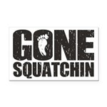 Gone Squatchin Rectangle Car Magnet