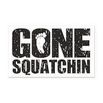 Gone Squatchin Rectangle Car Magnet