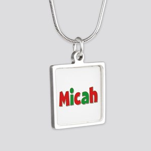 Micah Christmas Silver Square Necklace