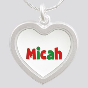 Micah Christmas Silver Heart Necklace