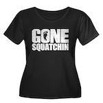 Gone Squatchin Women's Plus Size Scoop Neck Dark T