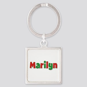 Marilyn Christmas Square Keychain