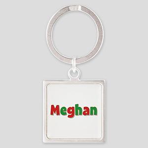 Meghan Christmas Square Keychain