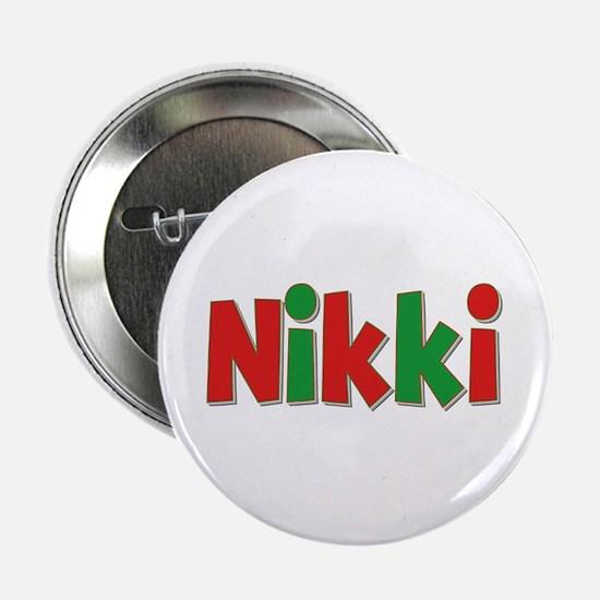 Nikki Christmas Button