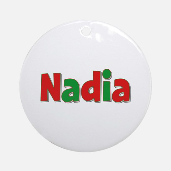 Nadia Christmas Round Ornament