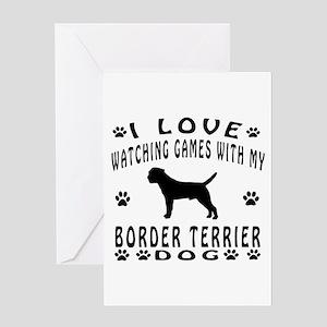 Border Terrier Design Greeting Card