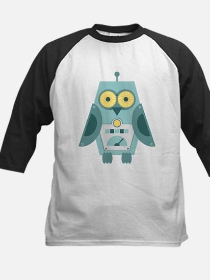Owl Robot Kids Baseball Jersey