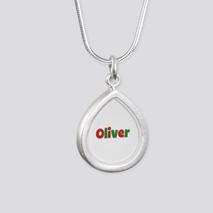 Oliver Christmas Silver Teardrop Necklace