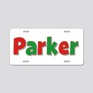 Parker Christmas Aluminum License Plate