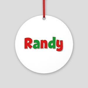 Randy Christmas Round Ornament