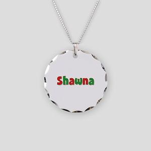 Shawna Christmas Necklace Circle Charm