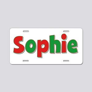 Sophie Christmas Aluminum License Plate