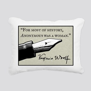 Anonymous Was a Woman Rectangular Canvas Pillow