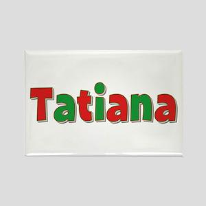 Tatiana Christmas Rectangle Magnet