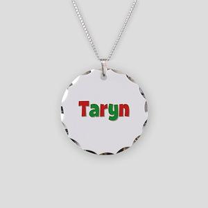 Taryn Christmas Necklace Circle Charm