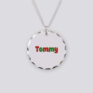 Tommy Christmas Necklace Circle Charm