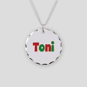 Toni Christmas Necklace Circle Charm