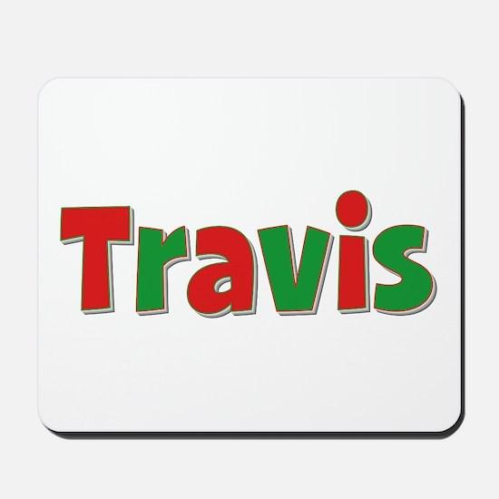 Travis Christmas Mousepad