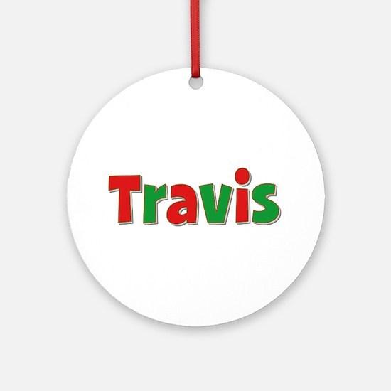Travis Christmas Round Ornament