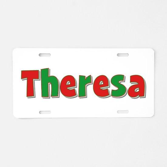 Theresa Christmas Aluminum License Plate