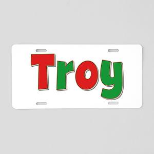 Troy Christmas Aluminum License Plate