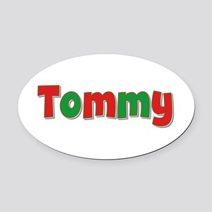 Tommy Christmas Oval Car Magnet