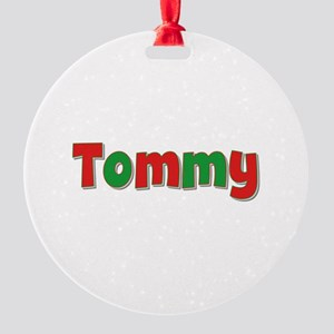 Tommy Christmas Round Ornament