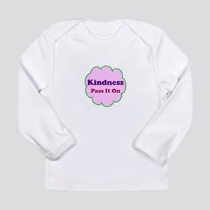 Pink Kindness Pass It On Long Sleeve Infant T-Shir