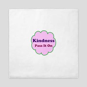 Pink Kindness Pass It On Queen Duvet