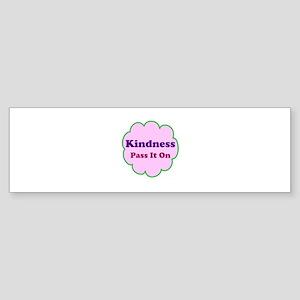 Pink Kindness Pass It On Sticker (Bumper)