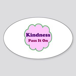 Pink Kindness Pass It On Sticker (Oval)