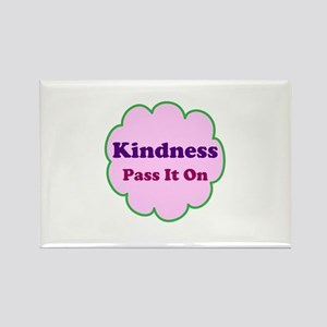 Pink Kindness Pass It On Rectangle Magnet