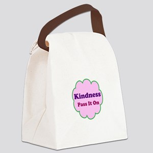 Pink Kindness Pass It On Canvas Lunch Bag