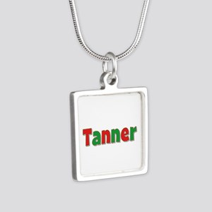 Tanner Christmas Silver Square Necklace