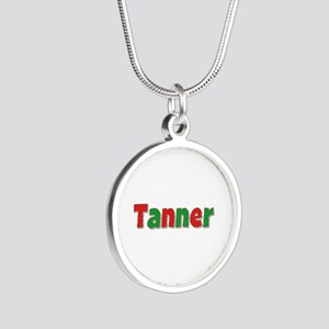 Tanner Christmas Silver Round Necklace