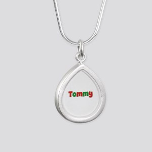 Tommy Christmas Silver Teardrop Necklace