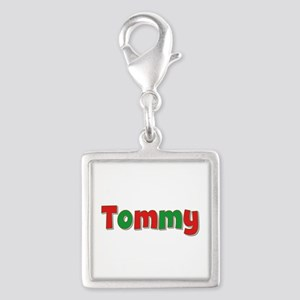 Tommy Christmas Silver Square Charm