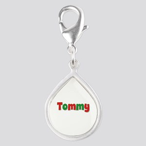 Tommy Christmas Silver Teardrop Charm