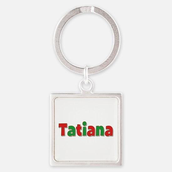 Tatiana Christmas Square Keychain