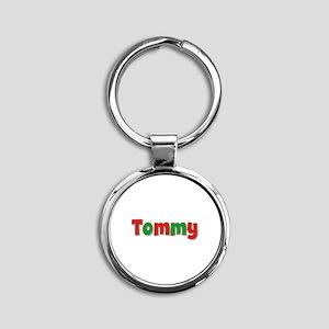 Tommy Christmas Round Keychain