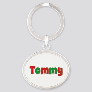 Tommy Christmas Oval Keychain