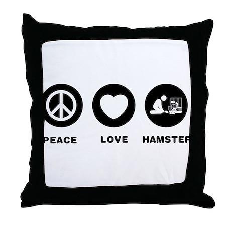 Hamster Lover Throw Pillow