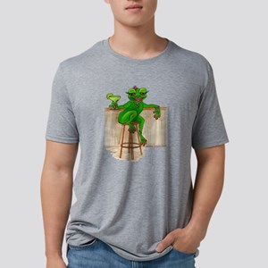 Margarita Frog Cartoon bar  Mens Tri-blend T-Shirt