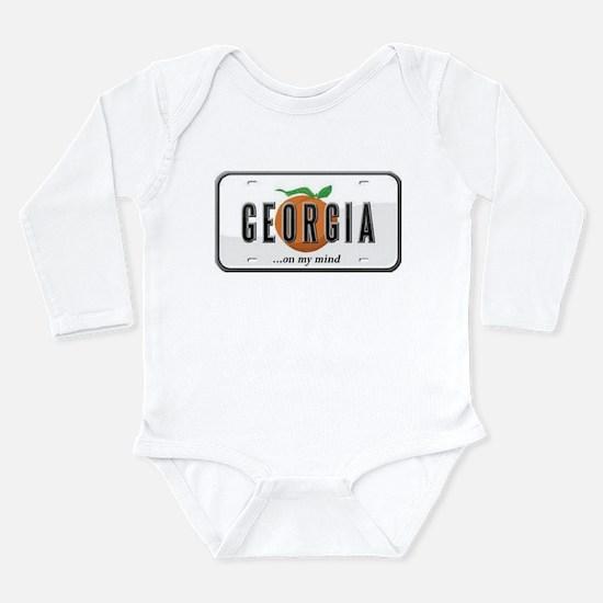 Georgia Plate Long Sleeve Infant Bodysuit