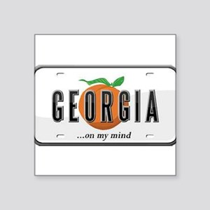 "Georgia Plate Square Sticker 3"" x 3"""