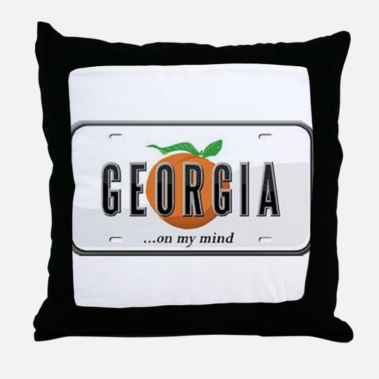 Georgia Plate Throw Pillow