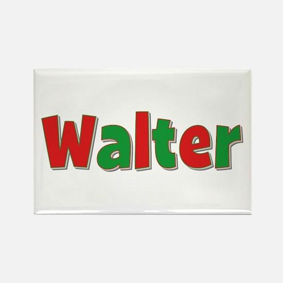 Walter Christmas Rectangle Magnet