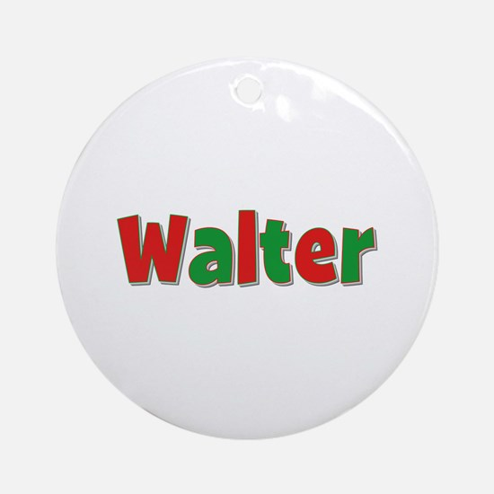 Walter Christmas Round Ornament