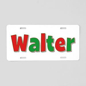 Walter Christmas Aluminum License Plate